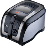 Deep Fryer Black Steel